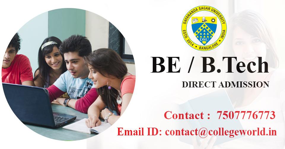 Engineering Direct Admission in Dayananda Sagar University, Bangalore through Management Quota