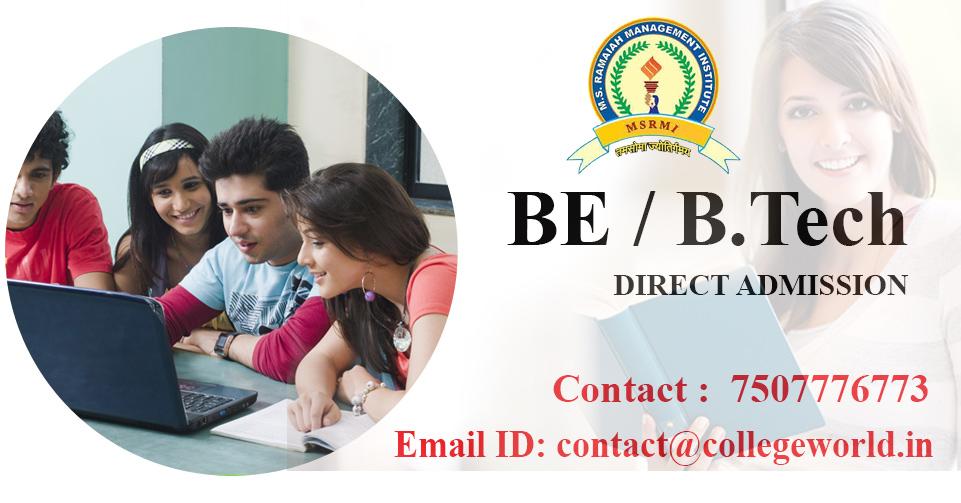 Engineering Direct Admission in M. S. Ramaiah University (MSRIT), Bangalore through Management Quota